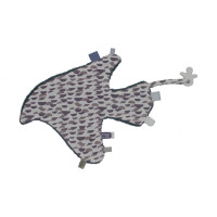 Snoozebaby Toy Bird Knuffeldoekje Frost Grey