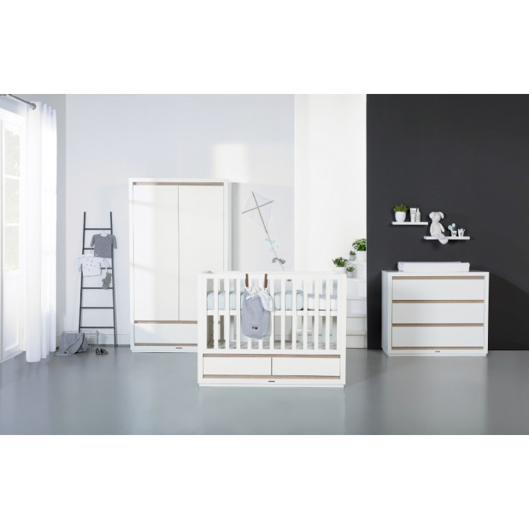 Kidsmill Accent Babykamer Wit | Bed 60 x 120 cm + Commode