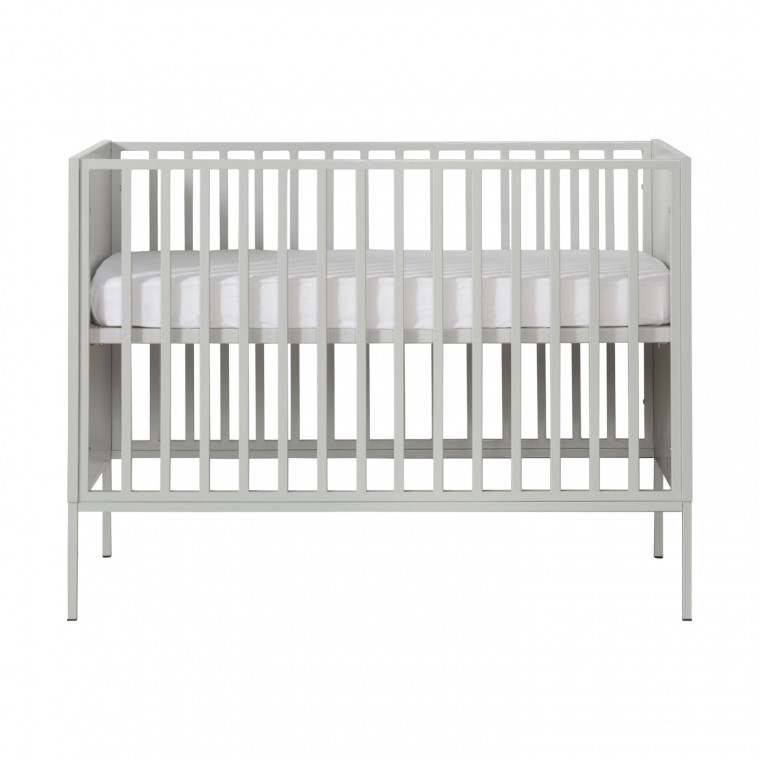 Kidsmill Amy Babykamer Grijs | Bed 60 x 120 cm + Commode Smal