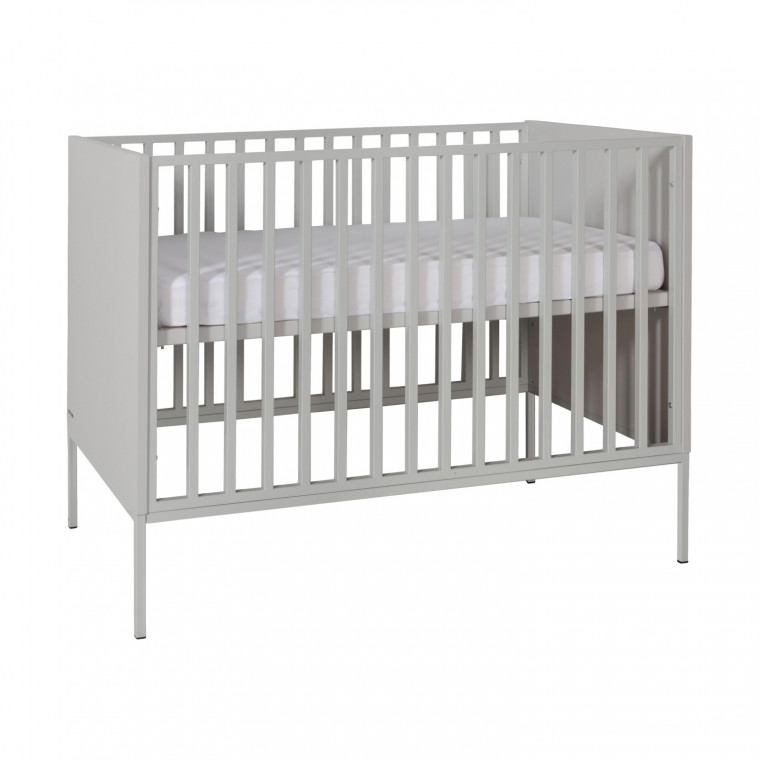 Kidsmill Amy Babykamer Grijs | Bed 70 x 140 cm + Commode Breed + Kast