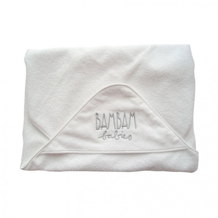 BamBam Baby Hooded Towel Silver