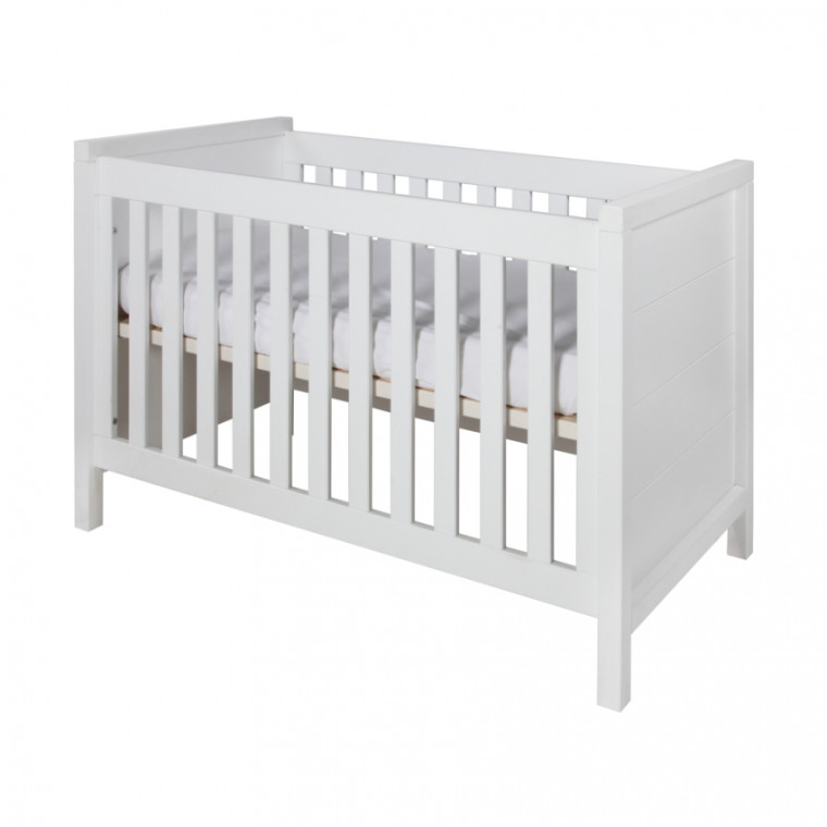 Europe Baby Atlantic Babykamer Wit | Bed 70 x 140 cm + Commode + Kast