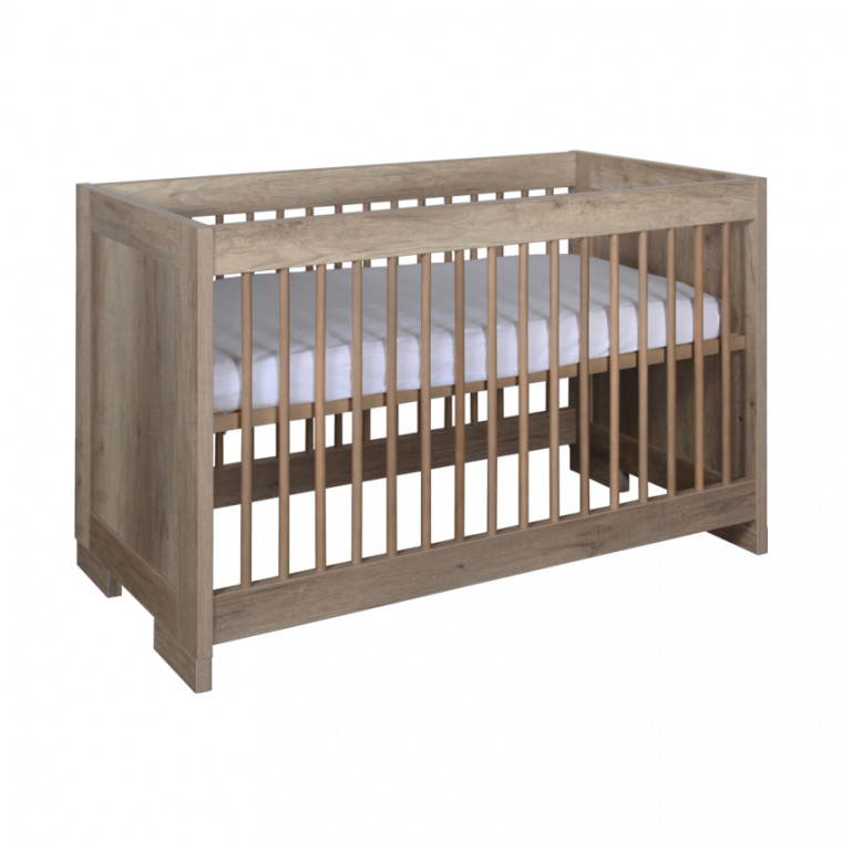 Kidsmill Brent Babykamer Oldwood | Bed 70 x 140 cm + Commode