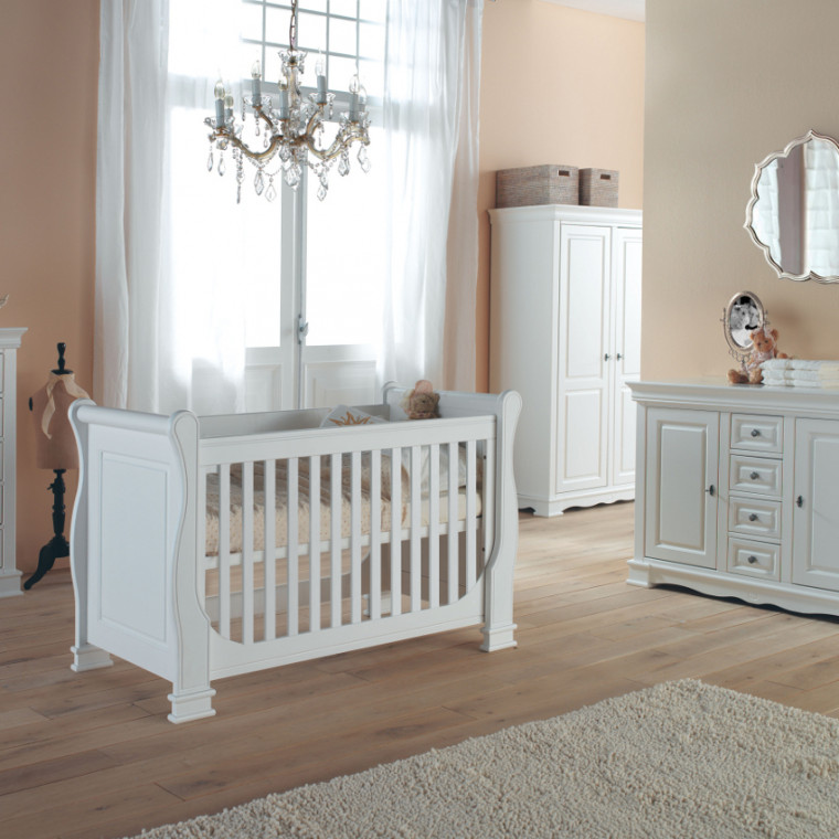 Kidsmill Louise de Philippe Babykamer Wit   Bed 60 x 120 cm + Commode