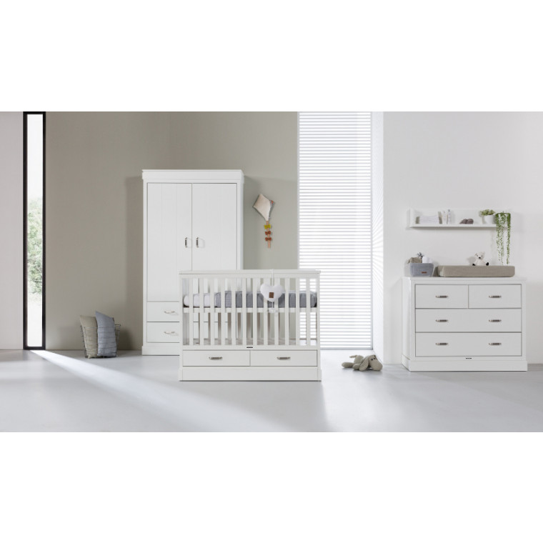 Kidsmill Newport Babykamer Wit | Bed 60 x 120 cm + Commode