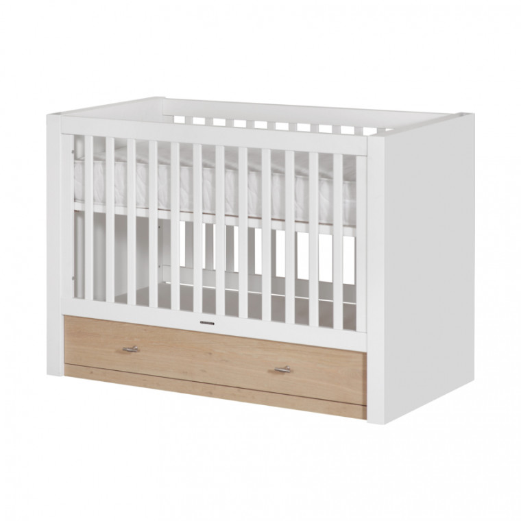 Kidsmill Pure Babykamer Oak | Bed 70 x 140 cm + Commode