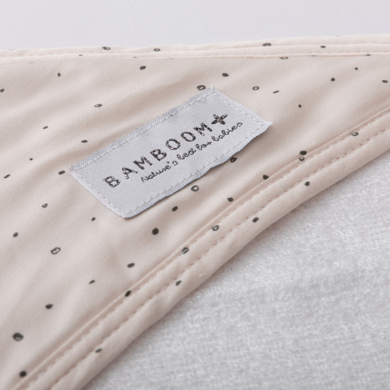 Bamboom Sparkling Bubbles Badcape Met Washand
