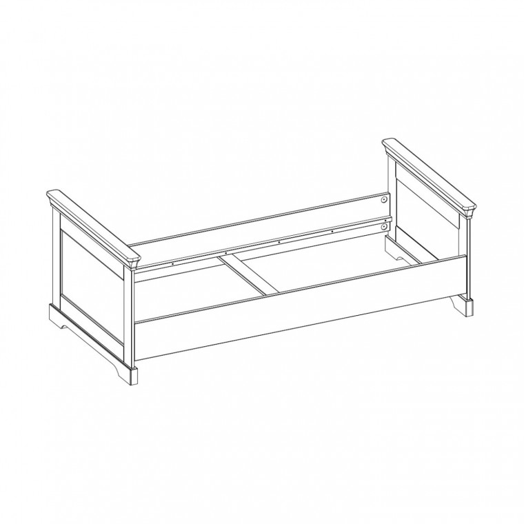 Kidsmill Chateau Bed Wit 90 x 200 cm