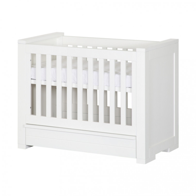 Kidsmill Bretagne Babykamer Wit | Bed 60 x 120 cm + Commode