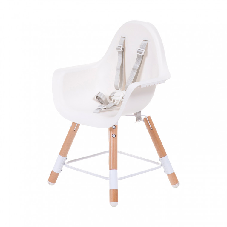 Childhome Evolu 2-in-1 Kinderstoel Naturel / Wit