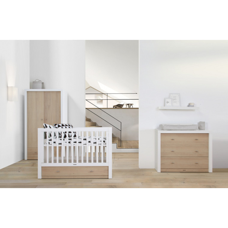 Kidsmill Pure Babykamer Oak | Commode + Kast