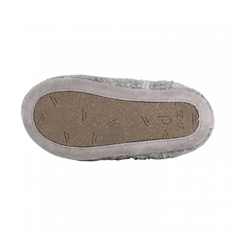 Dusq First Step Wool Babyschoentjes Misty Grey Mt. 15-16