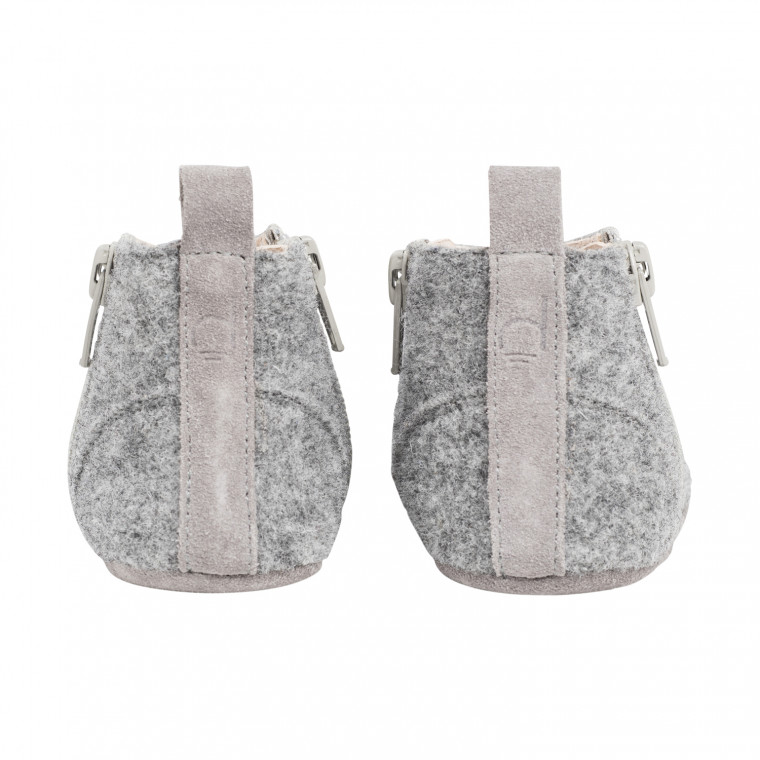 Dusq First Step Wool Babyschoentjes Misty Grey Mt. 17-18