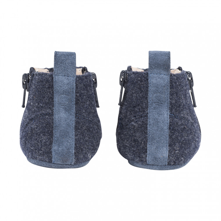 Dusq First Step Wool Babyschoentjes Ocean Blue Mt. 17-18