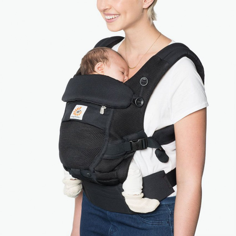 Ergobaby Adapt Cool Air Mesh Draagzak Onyx Black