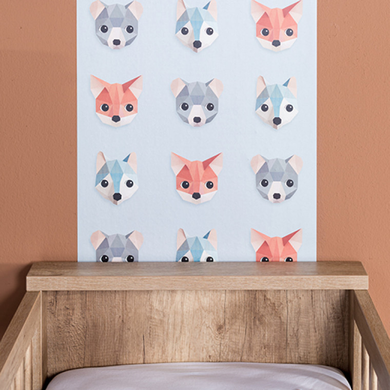 Kidsmill Brent Babykamer Oldwood  Bed Incl. Lade 60 x 120 cm + Commode