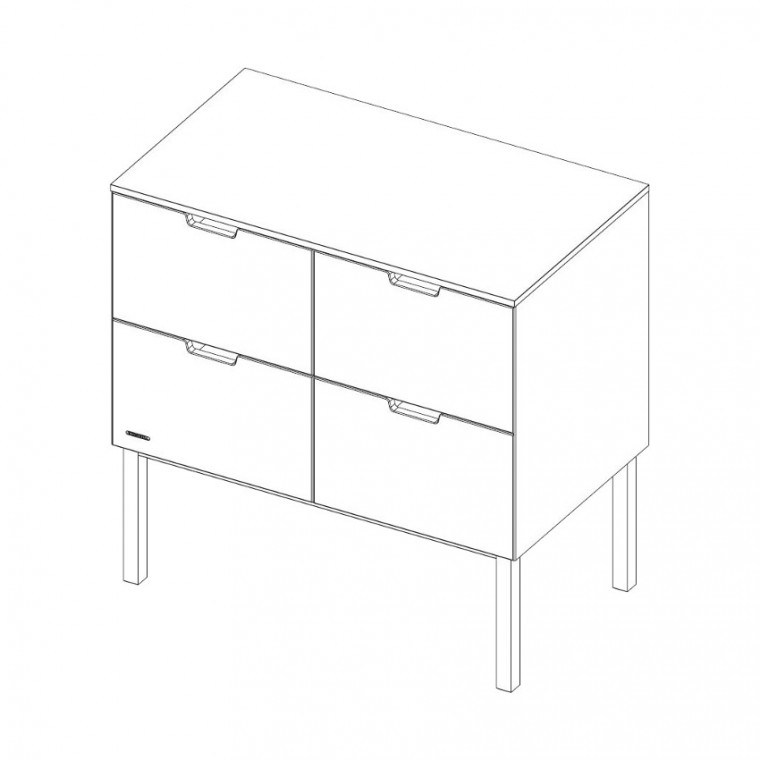 Kidsmill Sepp Commode Wit / Beuken