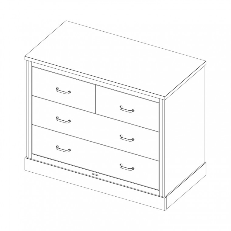 Kidsmill Newport Commode Wit