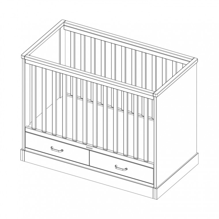Kidsmill Newport Babybed Wit 60 x 120 cm