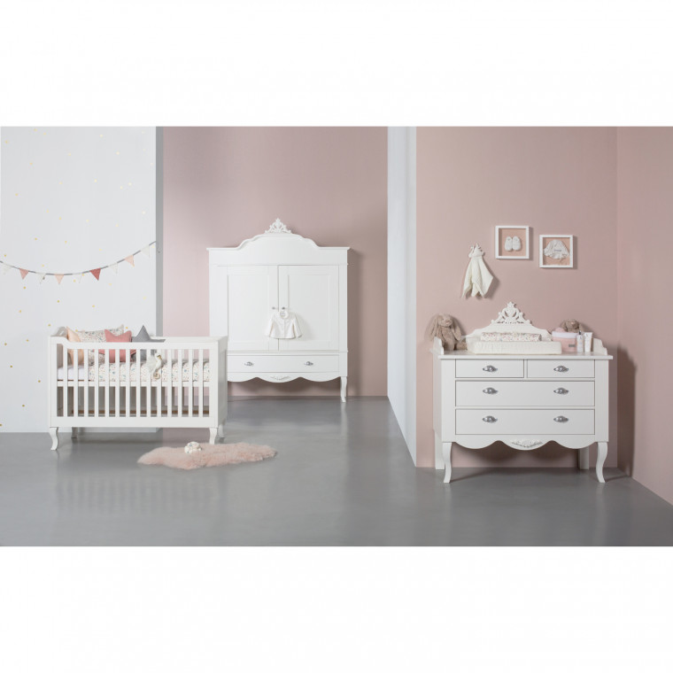 Kidsmill Romance Babykamer Wit | Bed 70 x 140 cm + Commode