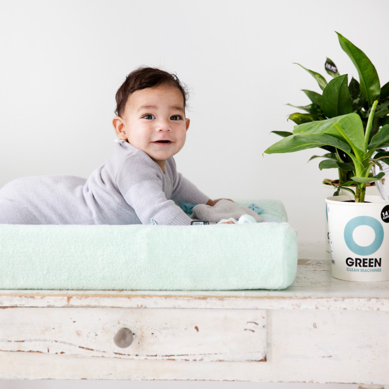 Snoozebaby Happy Dressing Waskussenhoes Misty Green