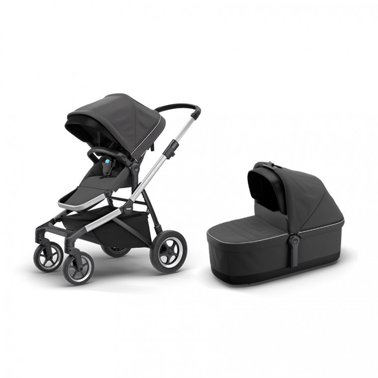Thule Sleek Kinderwagen Charcoal Grey Pack