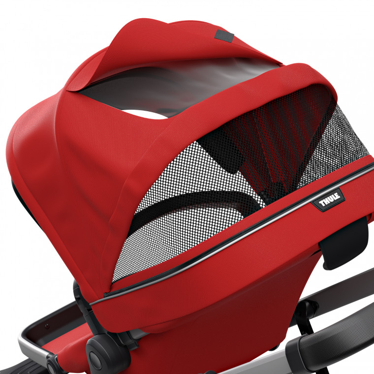 Thule Sleek Kinderwagen Energy Red Pack