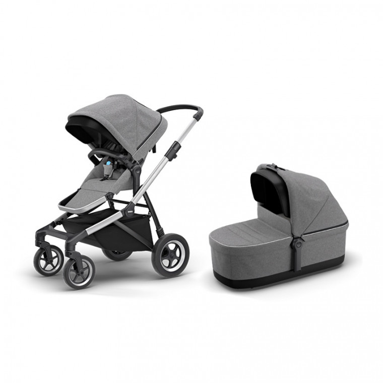 Thule Sleek Kinderwagen Grey Melange Pack