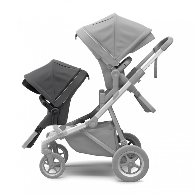 Thule Sleek Tweede Zitje Charcoal Grey