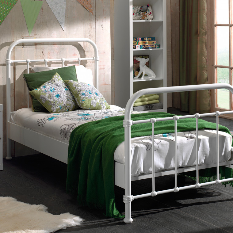 Vipack New York Bed Metaal Wit 90 x 200 cm
