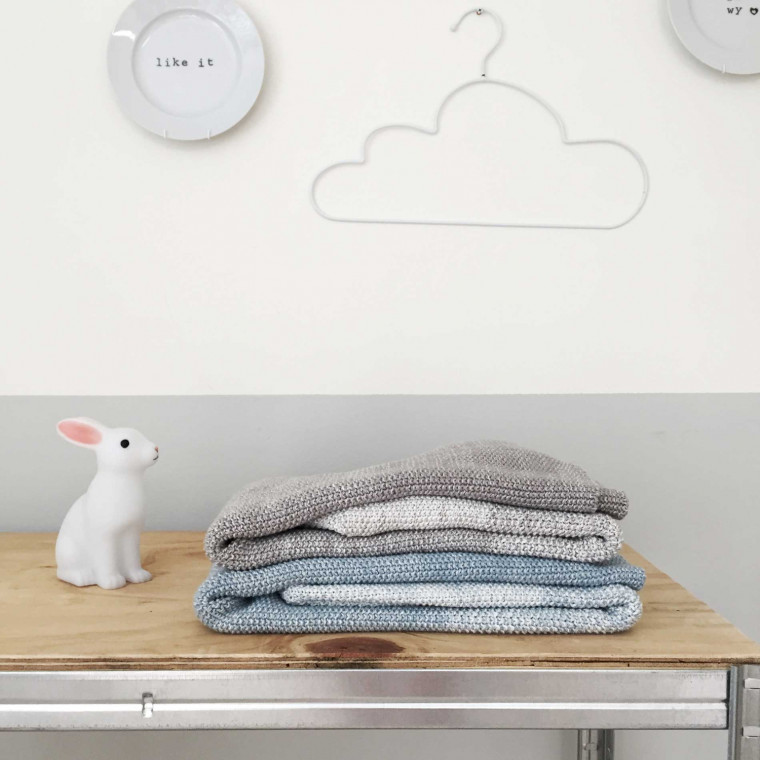 Witlof For Kids Ombre Ledikantdeken Warm Grey