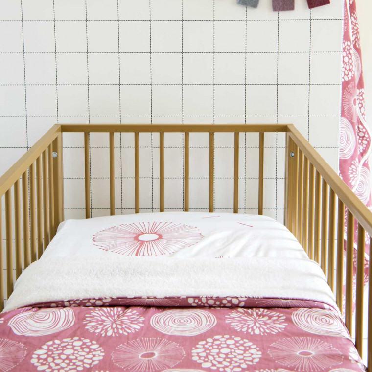 Witlof For Kids Sparkle Hoeslaken Rose 60 x 120 cm
