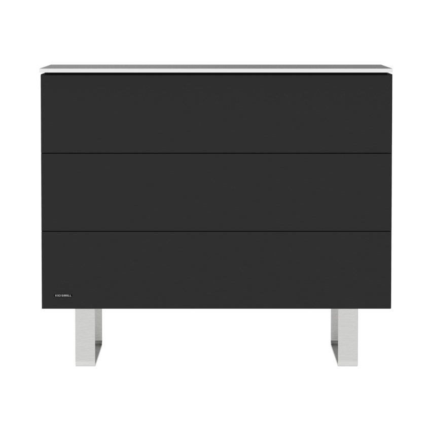 Modular 3l Commode Mat Zwart - Rvs