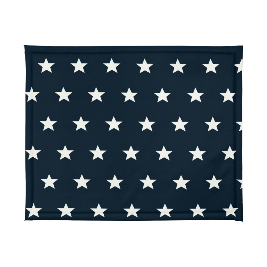 Jollein Boxdek Little Star Navy 75 X 95 Cm