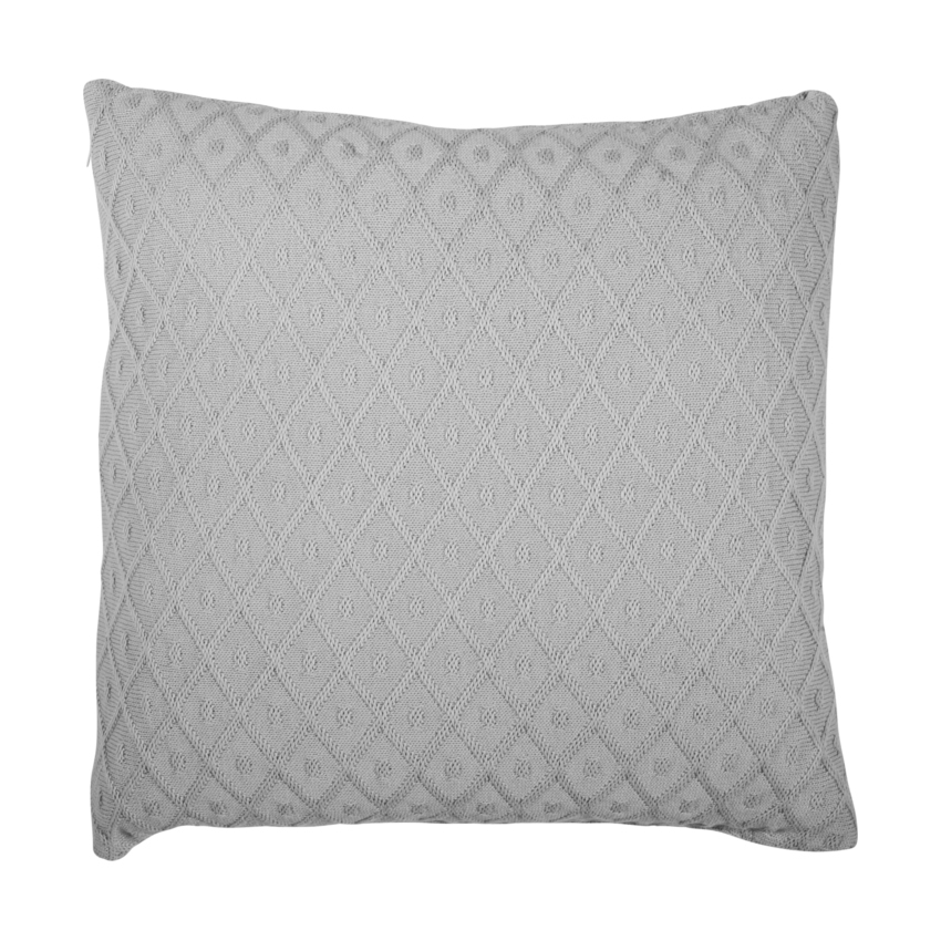 Jollein Diamond Knit Kussenhoes 50 X 50 Cm Grey