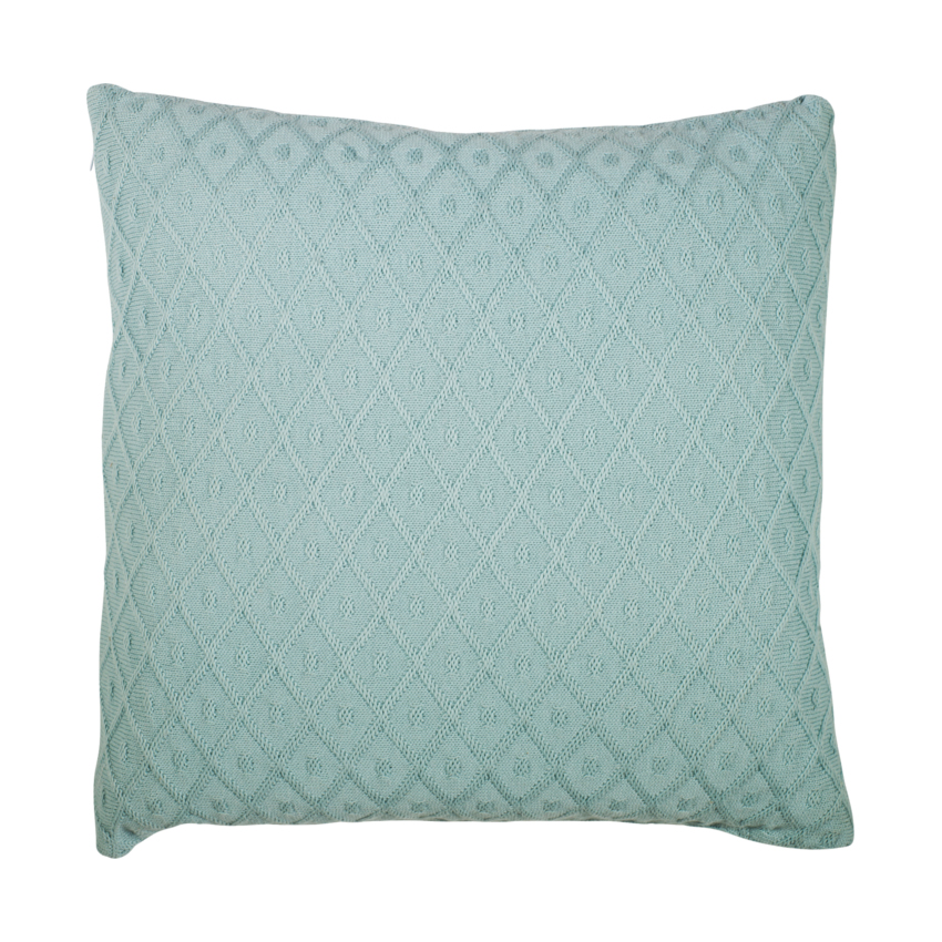 Jollein Diamond Knit Kussenhoes 50 X 50 Cm Vintage Green
