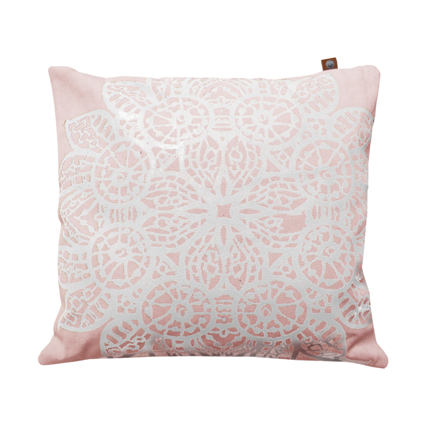 Overseas Kussen Lace Off White - Blush 45 x 45 cm