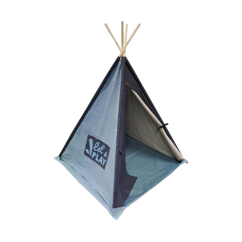 Overseas Tipi Tent Canvas Basic Soft Blue / Navy