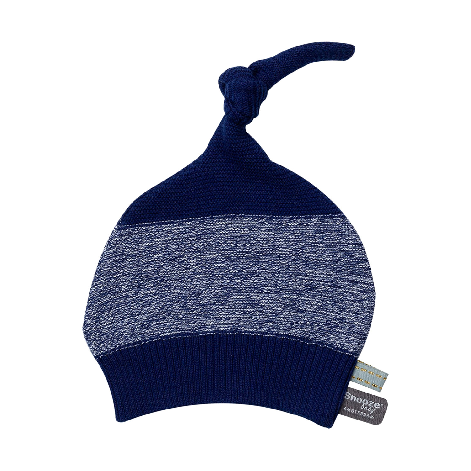 Snoozebaby Knitted Muts Indigo Blue