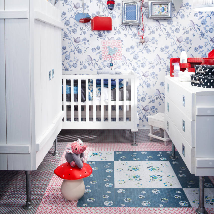 Babykamer Worker Wit - Ledikant - Commode - Kast